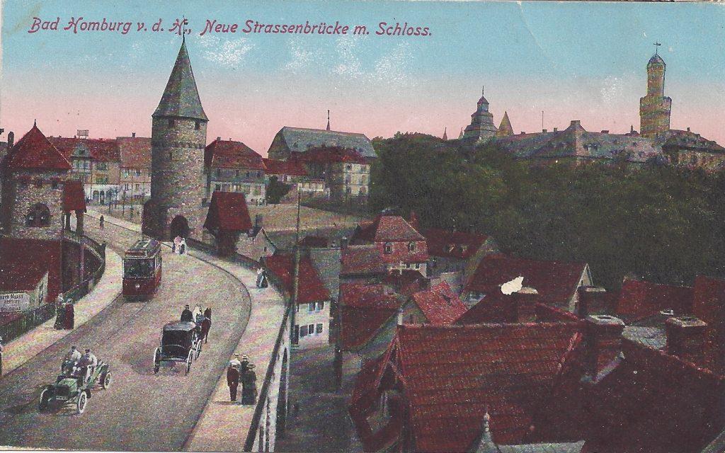 Ansichtskarte Neue Strassenbrücke m. Schloss