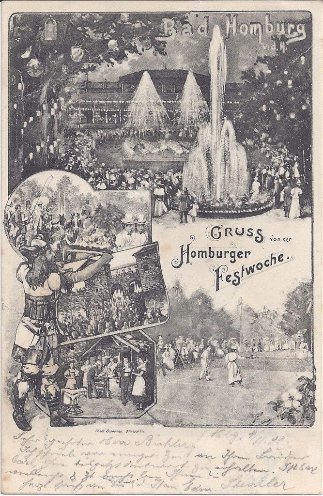 Ansichtskarte von der Homburger Festwoche 1897