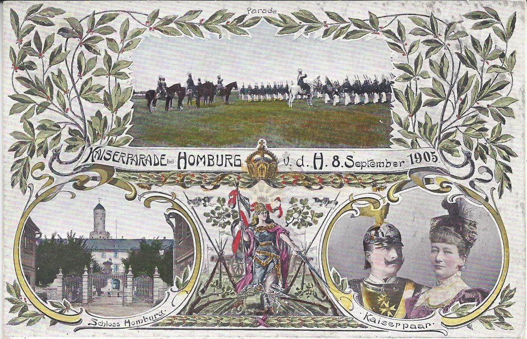 Ansichtskarte von der Kaiserparade 1905
