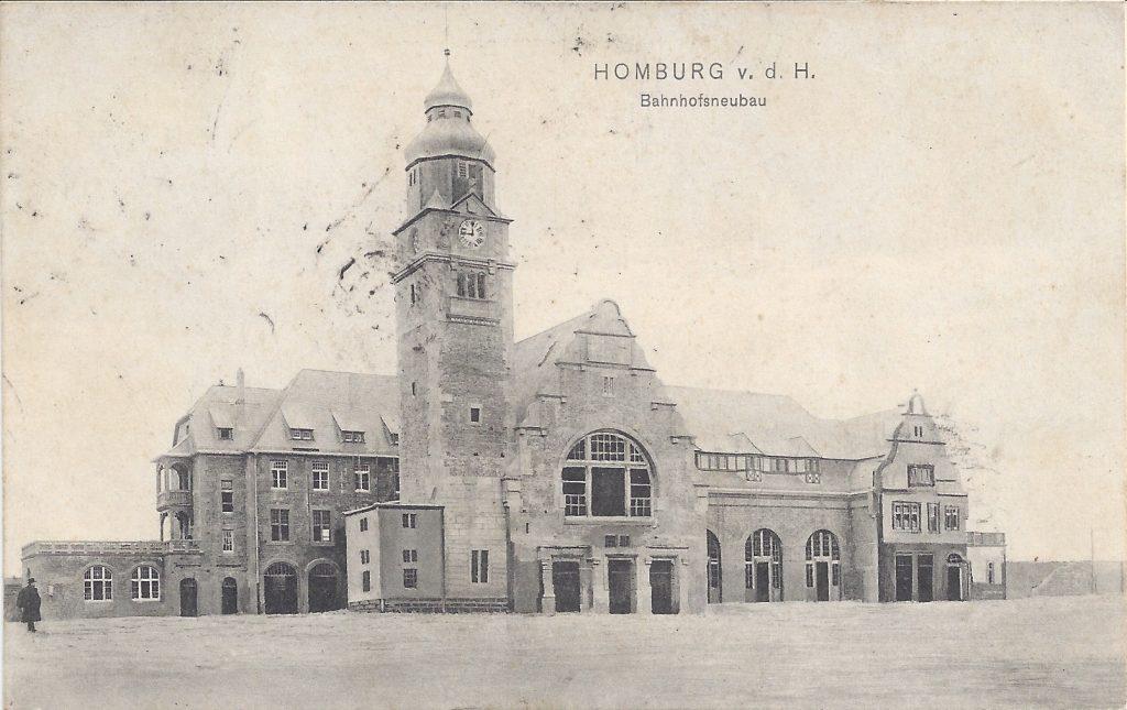 Ansichtkarte Bahnhofsneubau Homburg v.d.H.