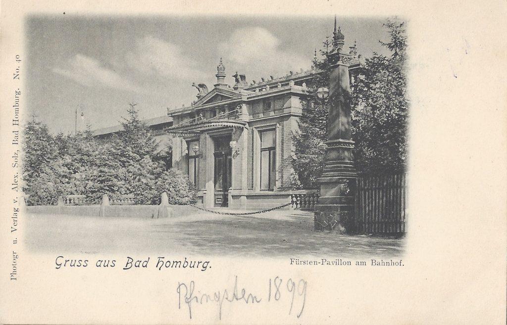 Ansichtskarte Fürsten-Pavillion am Bahnhof