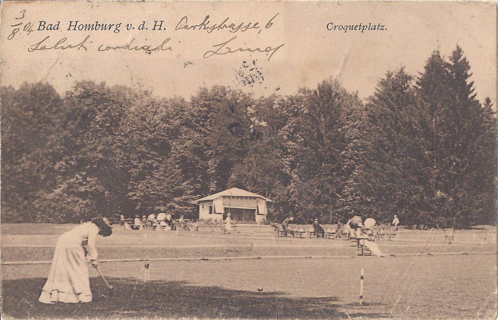 AK Croquetplatz im Kurpark