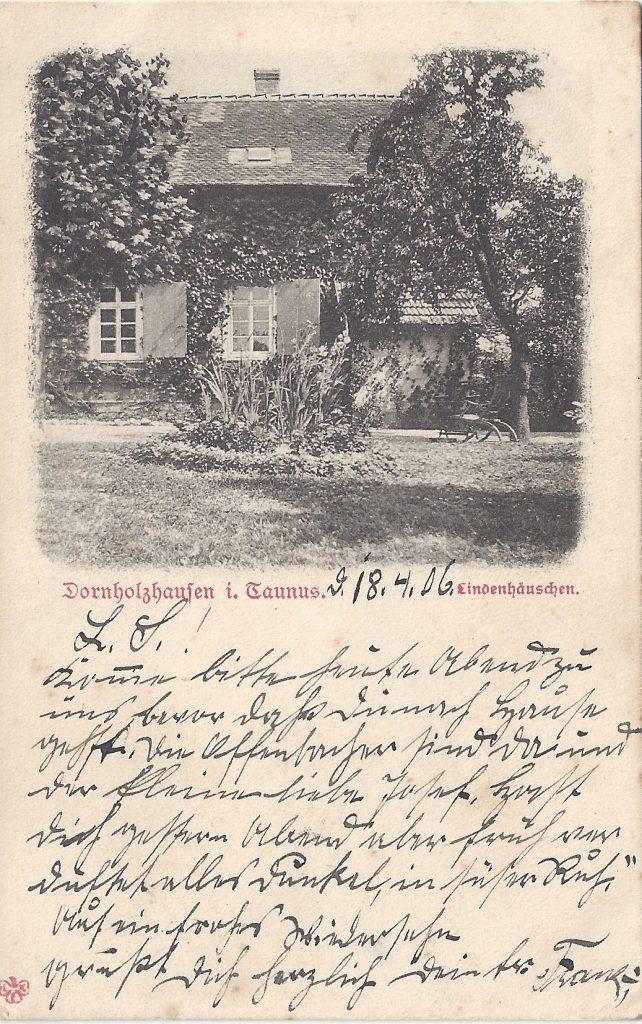 Ansichtskarte Dornholzhausen im Taunus, Lindenhäuschen