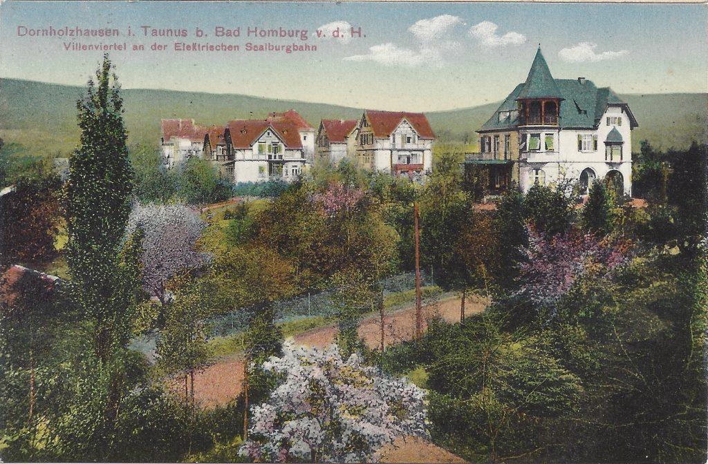 Ansichtskarte Dornholzhausen, Villenviertel an der elektrischen Saalburgbahn