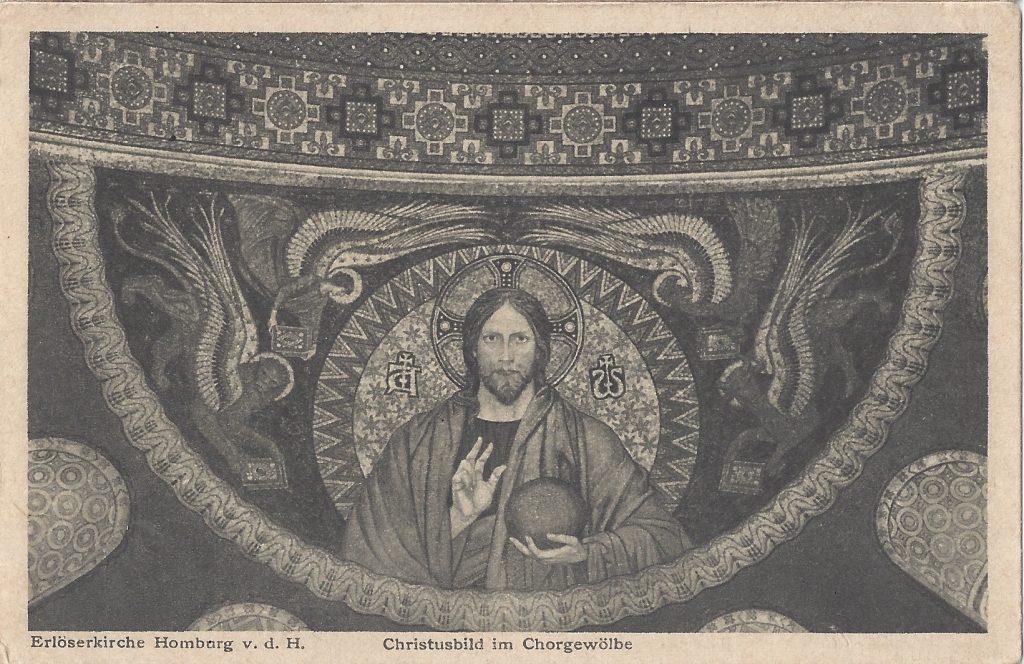 Ansichtskarte Erlöserkirche, Chorgewölbe