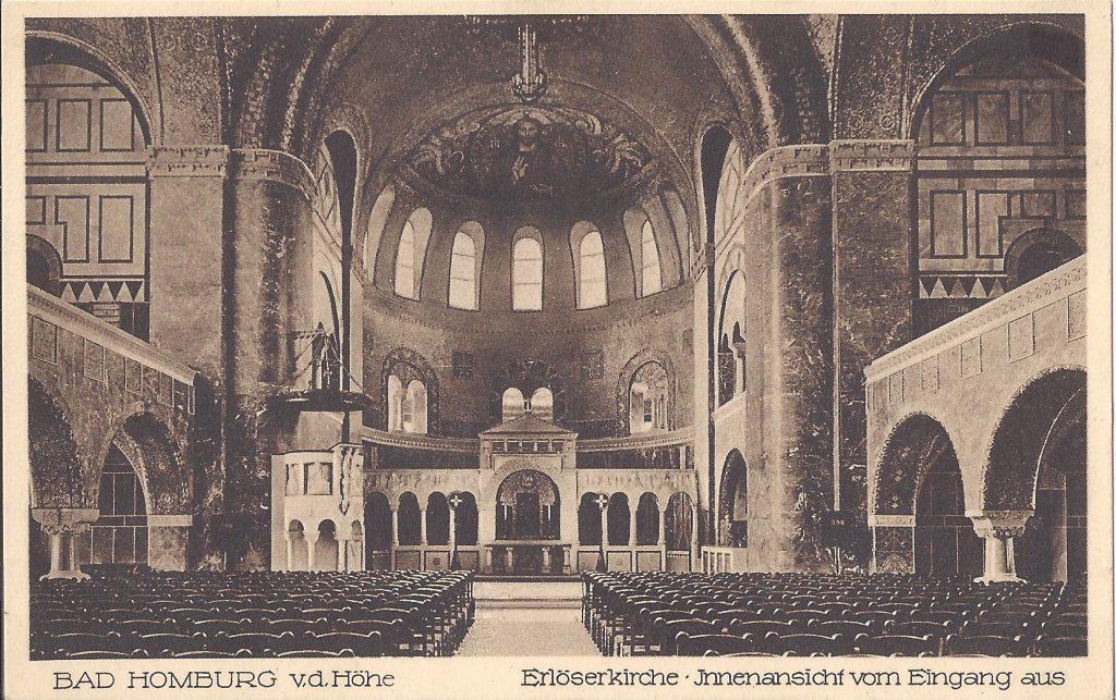 Ansichtskarte Erlöserkirche, Kirchenraum