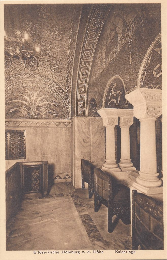 Ansichtskarte Erlöserkirche, Kaiserloge