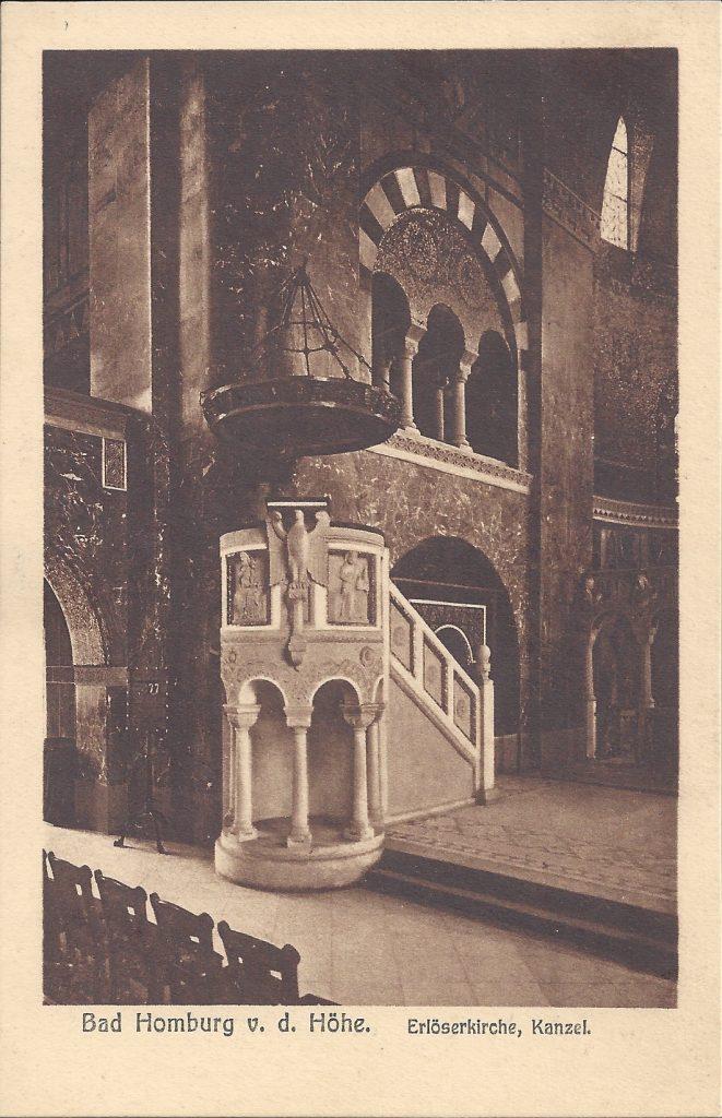 Ansichtskarte Erlöserkirche, Kanzel