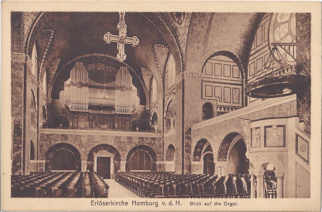Ansichtskarte Erlöser-Kirche, Innenraum