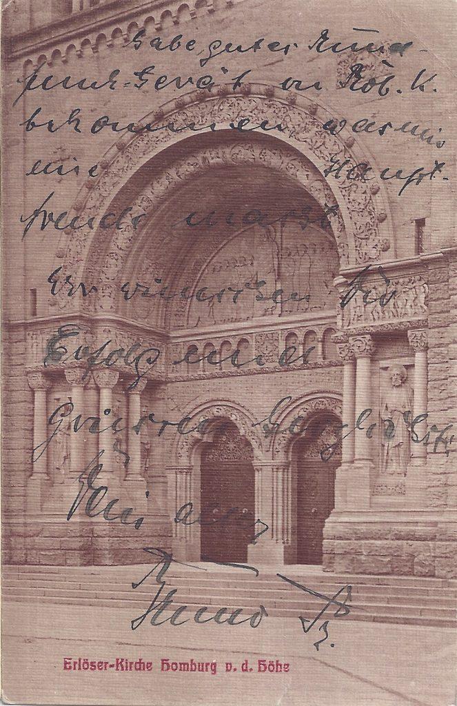 Ansichtskarte Erlöserkirche, Homburg vor der Höhe, Portal
