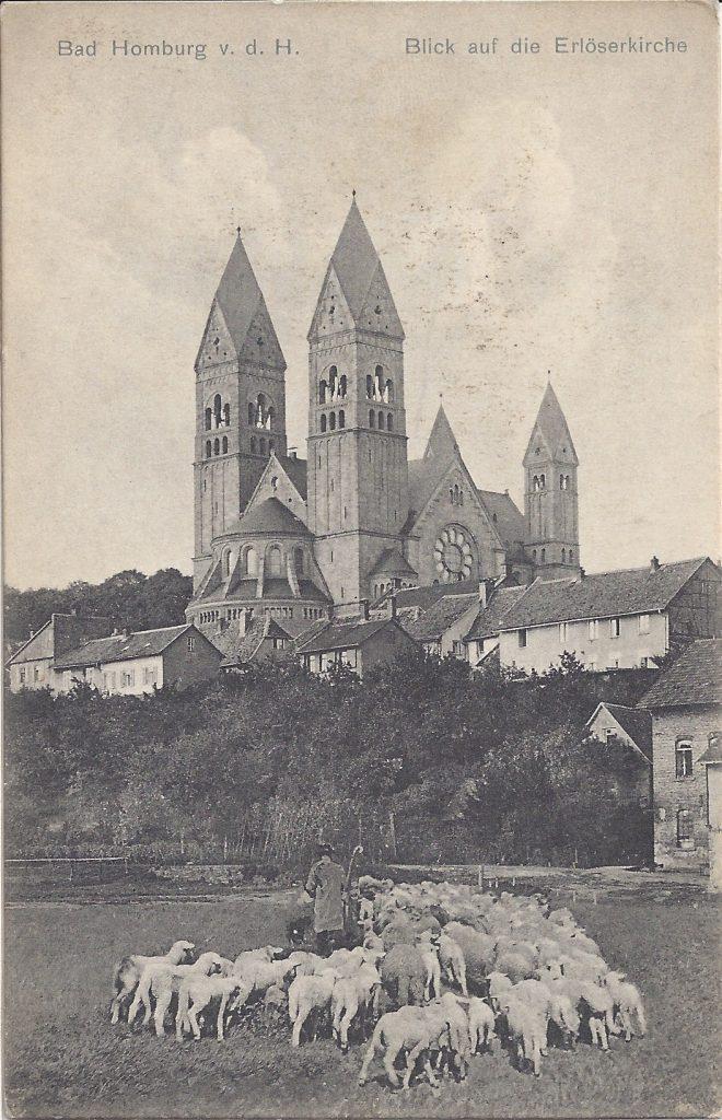 Ansichtskarte Blick auf die Erlöserkirche