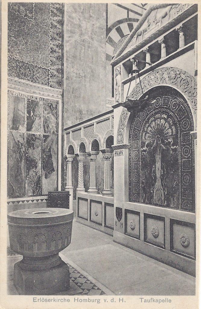 Ansichtskarte Erlöserkirche, Taufkapelle