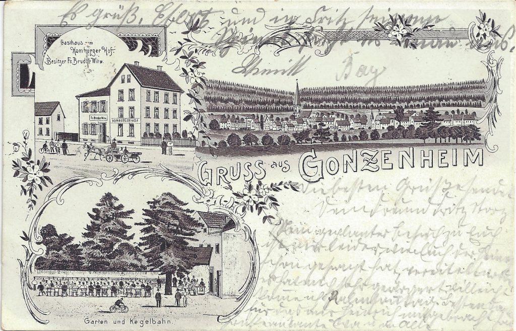 Ansichtskarte Gruß aus Gonzenheim