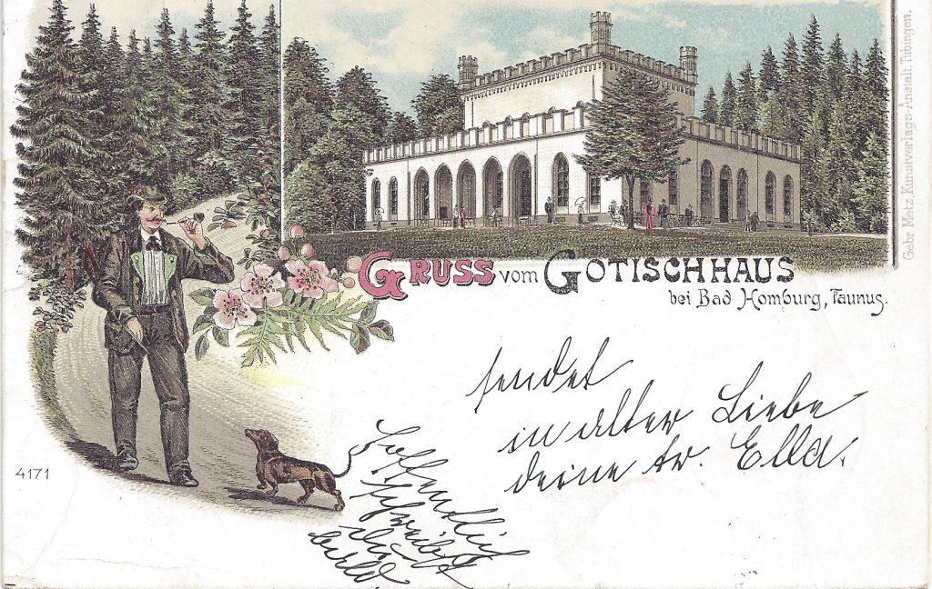 Ansichtskarte Lithografie Gotischhaus
