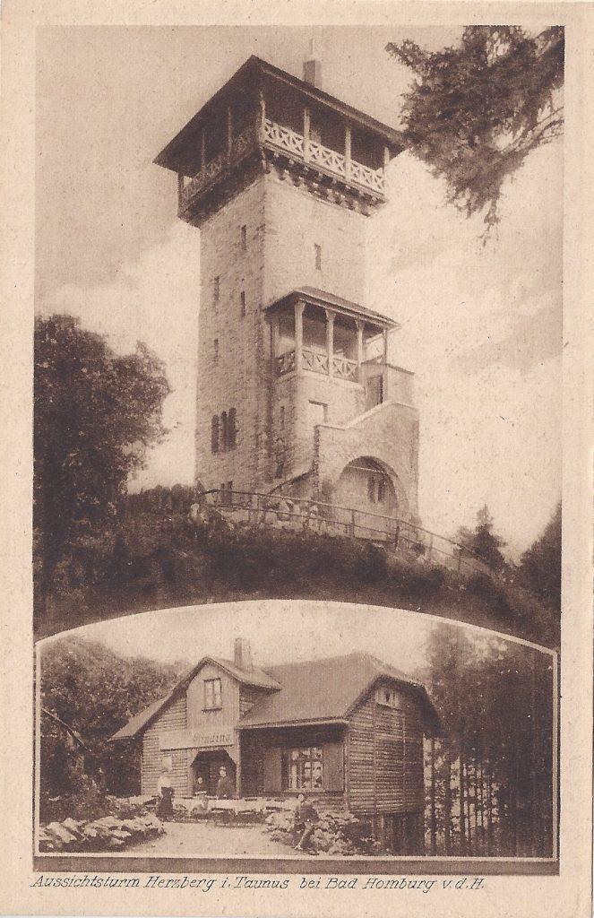 Ansichtskartte Herzbergturm mit Restauration