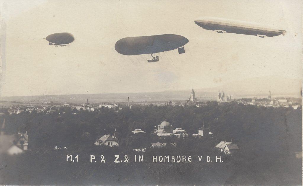 Ansichtskarte Luftschiffparade