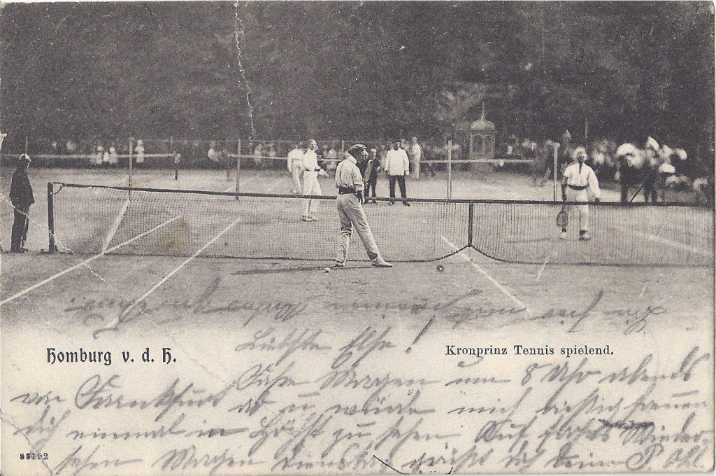 AK Der Kronprinz, Tennis spielend