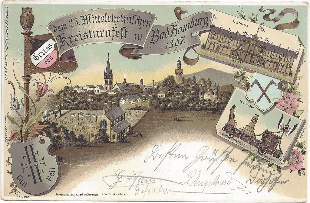 Ansichtskarte Mittelrheinisches Turnfest 1897